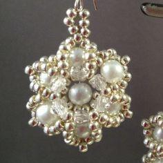 Bridal Flower Earrings