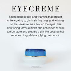 EyeCrème by SeneGence  I would love to tell you about the amazing products SeneGence offers. From skin care to LipSense, we have something tfor everyone. Message me to order or ask me how you can join my team. You can also find me at Facebook.com/KissandMakeupinIndiana.   Independent Distributor #366038
