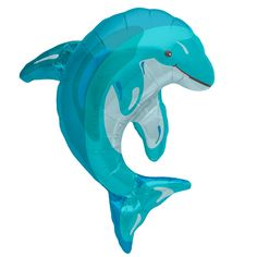 Blue Dolphin SuperShape Foil Balloon