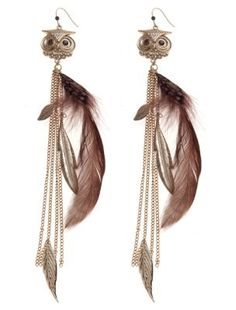 Lipsy Feather Chandelier Earrings ($19) ❤ liked on Polyvore ...