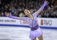 Mao Asada, of Japan, competes during the free skate in the World Figure Skating Championships, Saturday, April 2, 2016, in Boston. (AP Photo/Steven Senne) (2107×1499)