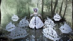 """""""Artist Kirsty Mitchell has been creating her own fairy-tale images, under the title """"Wonderland,"""" for three years, in the memory of her mother."""" -- these are truly amazing images; click through to the artist's website for many more and detailed diaries of the photoshoots, construction, etc."""