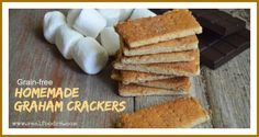 Grain-free Homemade Graham Crackers by @RealFoodRN   Real Food RN