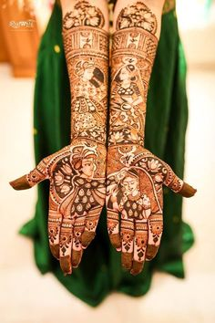 Looking for Trending half and half mehendi design? Browse of latest bridal photos, lehenga & jewelry designs, decor ideas, etc. on WedMeGood Gallery.