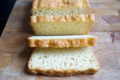 best keto bread loaf sliced straight on
