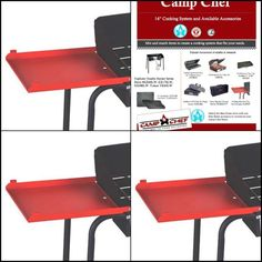Fits Two Burner Stove Models EX60LW, Camp Chef Folding Side Shelves LS60P