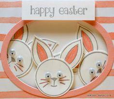 JanB Handmade Cards Atelier: Rabbits' Photobomb Easter Card