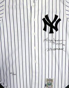 "New York Yankees Reggie Jackson Autographed Mitchell & Ness Jersey """"Mr. October & HOF 93"""" PSA/DNA"