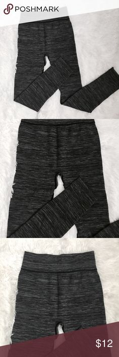 High Waist Basic Grey Leggings Like new, never worn. Add to a bundle for $5! Pants Leggings