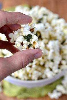 Brown Butter and Crispy Sage Popcorn is addicting on all levels. Plus ...