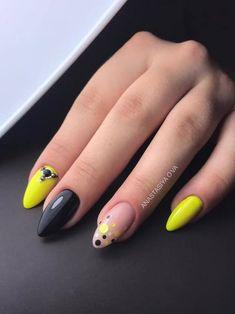 O-nails & Freelance Education. Diy Nails Manicure, Neon Nails, Yellow Nails, Love Nails, Pretty Nails, Creative Nail Designs, Creative Nails, Square Nail Designs, Long Nail Designs