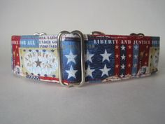 4th of July Martingale Collar $19.99