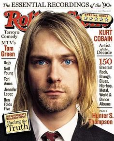 Kurt Cobain on the cover of Rolling Stone magazine