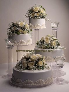 4 TIER CASCADING WEDDING CAKE STAND STANDS / 3 TIER CANDLE STAND SET