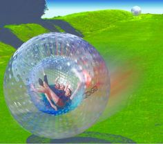 Zorbing in New Zealand is a travel experience not to be missed. What else do you do with a huge plastic sphere? Climb inside and tumble down a grassy hill! What were you thinking? Luckily the balls are reinforced with a layer of air between you and the ground. That would be interesting, but probably very painful. And what's the best part? The water inside each ball creates your own mini water park while you hurl yourself across a New Zealand farm. via http://www.raftabout.co.nz/