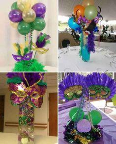 161 best images about centerpiece on fiestas Mardi Gras Centerpieces, Mardi Gras Decorations, Balloon Centerpieces, Moms 50th Birthday, 18th Birthday Party, Ciara Birthday, Mardi Gras Hats, Masquerade Theme, Its My Bday