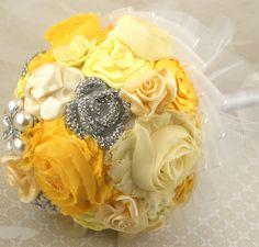 Bridesmaids Brooch Bouquets Brooch Wedding Bouquets in by SolBijou, $480.00