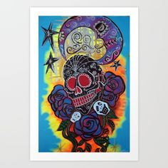 Strange Magic by Laura Barbosa Strange Magic, Gifts For Art Lovers, Magic Art, Sugar Skull, Stocking Stuffers, Skulls, Fantasy Art, Fine Art Prints, Roses