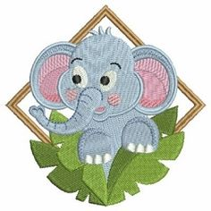 Baby Elephant 8 - 4x4 | What's New | Machine Embroidery Designs | SWAKembroidery.com Ace Points Embroidery