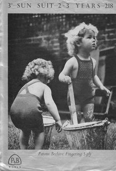 patons 218 Vintage Knitting, Baby Knitting, Baby Kids, Swimming, Children, Swimwear, How To Wear, Suit, Google