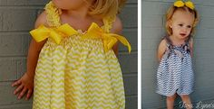 These adorable chevron rompers are perfect for spring and summer. They feature two ribbons at the top to tie in bows and elastic at the knees to make the bubble design. Perfect for those summer parties or family photo shoots.They come in 6 adorable colors: Aqua, Yellow, Red, Light Pink, Dark Pink, and GreySizing:  Small: 6-12MMedium: 12-18M Large: 18-24MMaterial: Chiffon**These are custom made, please allow up to 14 days for your order to ship out.**