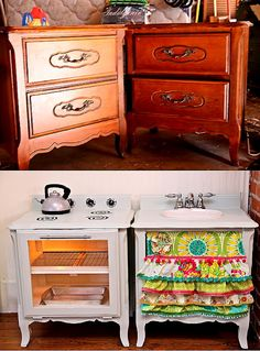 Super cute ideas for old furniture!  I hope one of them is a girl :)