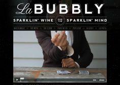 Dark website design example: La Bubbly. Retro typography goodness. Via sixrevisions.com.