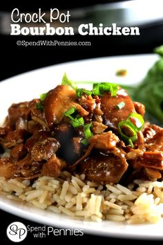 This delicious Bourbon Chicken recipe is one of our favorites! The marinade creates the most delicious sauce and is perfect served over rice!