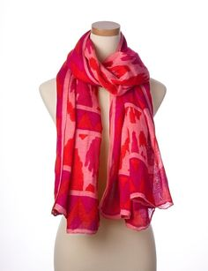 Pink Multi Tie All Scarf