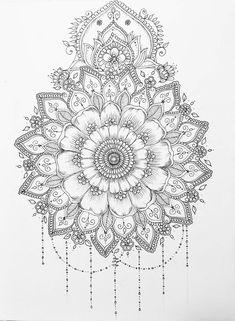 Pin by kesha on art mandala tattoo, tattoo drawings, tattoo designs. Mandalas Painting, Mandalas Drawing, Mandala Coloring Pages, Coloring Book Pages, Mandala Art, Doodle Patterns, Zentangle Patterns, Zentangles, Mehndi Designs