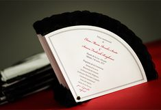 spanish fan wedding programs | spanish wedding program for a traditional spanish feel fans collection