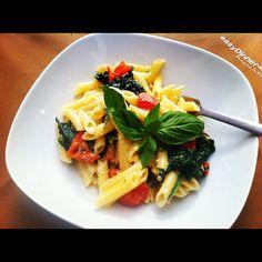 Salsa de Espinacas y Tomates secos con Pasta