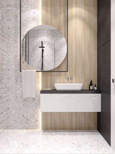 zen Bathroom Decor Kitchen designed by arteim_studio – Marble Bathroom Dreams Zen Bathroom Design, Bathroom Interior Design, Home Interior, Modern Bathroom, Small Bathroom, Kitchen Design, Bathroom Ideas, Contemporary Bathrooms, Bathroom Grey