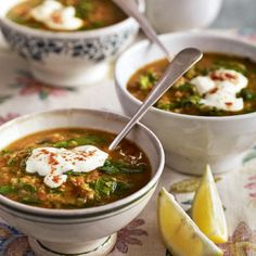 Make the most of seasonal spinach with this fragrant vegetarian soup recipe. For non-veggies, chicken stock gives a fantastic flavour.