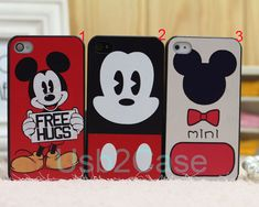 Cartoon Cute Disney Mickey Mouse cover for Apple i phone iphone 4 4s 5 5s 5c case for samsung galaxy S3 S4 S5 note 2 note 3 Plastic cases on Etsy, $0.20