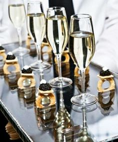 Our two favourite Cs: caviar and champagne.