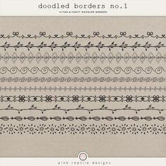 Fun & Fancy Doodled Borders by Pink Reptile Designs Mandala Doodle, Tangle Doodle, Tangle Art, Doodles Zentangles, Zen Doodle, Doodle Art, Doodle Patterns, Zentangle Patterns, Doodle Boarders