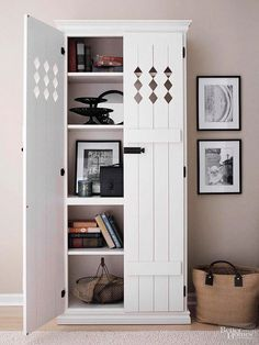 Country Cupboard - this is what I want to do with my one bookcase that doesn't match the others.