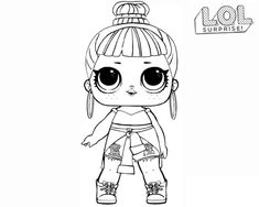 LOL Surprise Doll Coloring Pages Crystal Doll | Color ...