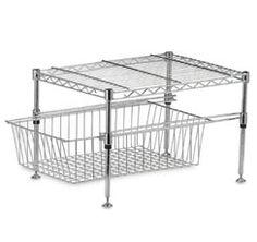 Bed Bath & Beyond Under Cabinet Shelf/Basket $29.99 #organization