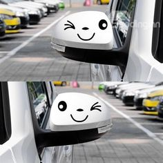 Valuable Car Styling Smile Face 3D Decal Sticker for Auto Car Side Mirror FJ