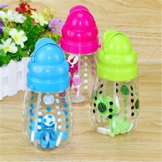 HOT Sell Sports Water Bottle Kids Tazas  Copos Cartoon Garrafa Tumbler with Straw Cute Gift for Children Drink Bottle Clearance