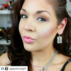 @agapelovegirl is totally rocking curiouser in this look  one of our more unique colors... but as you can see very wearable! So gorgeous! Thank you so much for putting our highlighters on your beautiful face! ❤ ・・・ CURIOUSER  see that gorgeous blue highlight!? That's 'Curiouser' from @bitter.lace.beauty! Isn't it magical!? Im also wearing @urbandecaycosmetics glitter liner in ACDC, subversion primer & PerversionMascara. Earrings are from @Sparkleandcourt and necklace is from @agap...