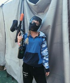 Paintball with her Paintball Girl, Paintball Party, Airsoft, Allisa Violet, Girl Outfits, Cute Outfits, Halloween Disfraces, Couple, Girl Power