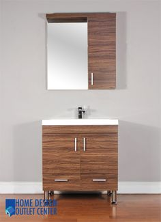 "Unique 30 Bathroom Vanity bliss 30"" modern walnut vanity - the vanity store canada - 30"" - 1"