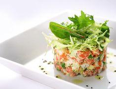 Быстрый рыбный салат-коктейль