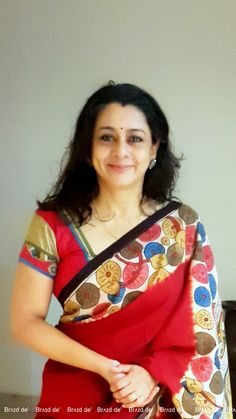 Pen Kalamkari Saree Paarvati Kiriyath Bharath Hastakala Kalamkari Winter Collection 2015