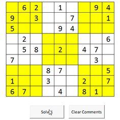 Solve Sudoku using Excel