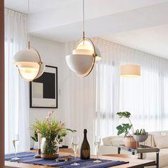 Globe Pendant Light, Multi Light Pendant, Pendant Lamp, Plywood Furniture, Pendant Lighting Over Dining Table, Kitchen Lighting, Modern Kitchen Design, Modern Design, Design Design