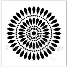 TM78 - Solaris Center Circle Stencil Patterns, Doodle Patterns, Stencil Designs, Embroidery Patterns, Folk Embroidery, Stencils, Stencil Art, Laser Cutter Projects, Cnc Projects